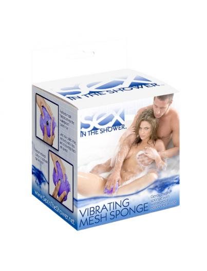 SEX IN THE SHOWER ESPONJA DE MALLA CON VIBRADOR - Imagen 1